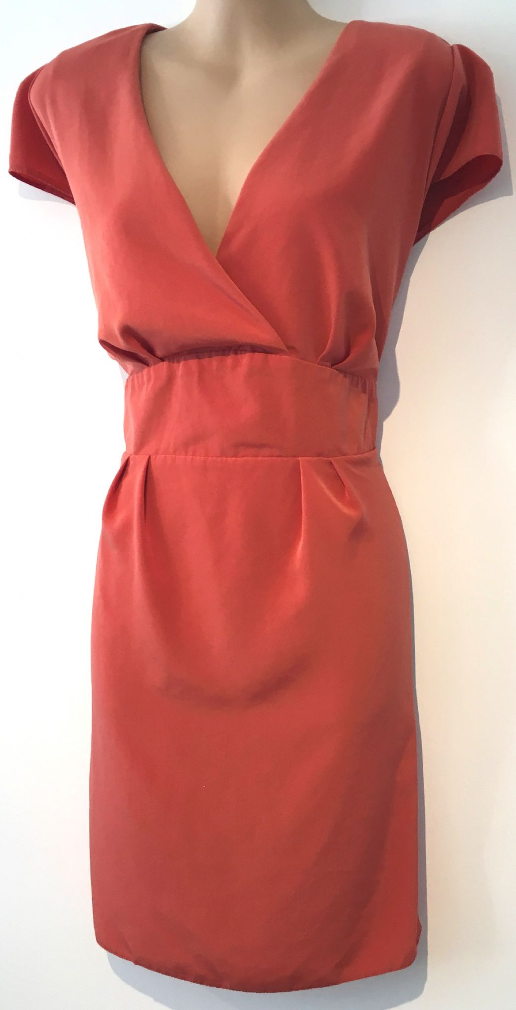 9c5c83958bc DOROTHY PERKINS ORANGE CROSS OVER TIE BACK TUNIC DRESS SIZE UK 18